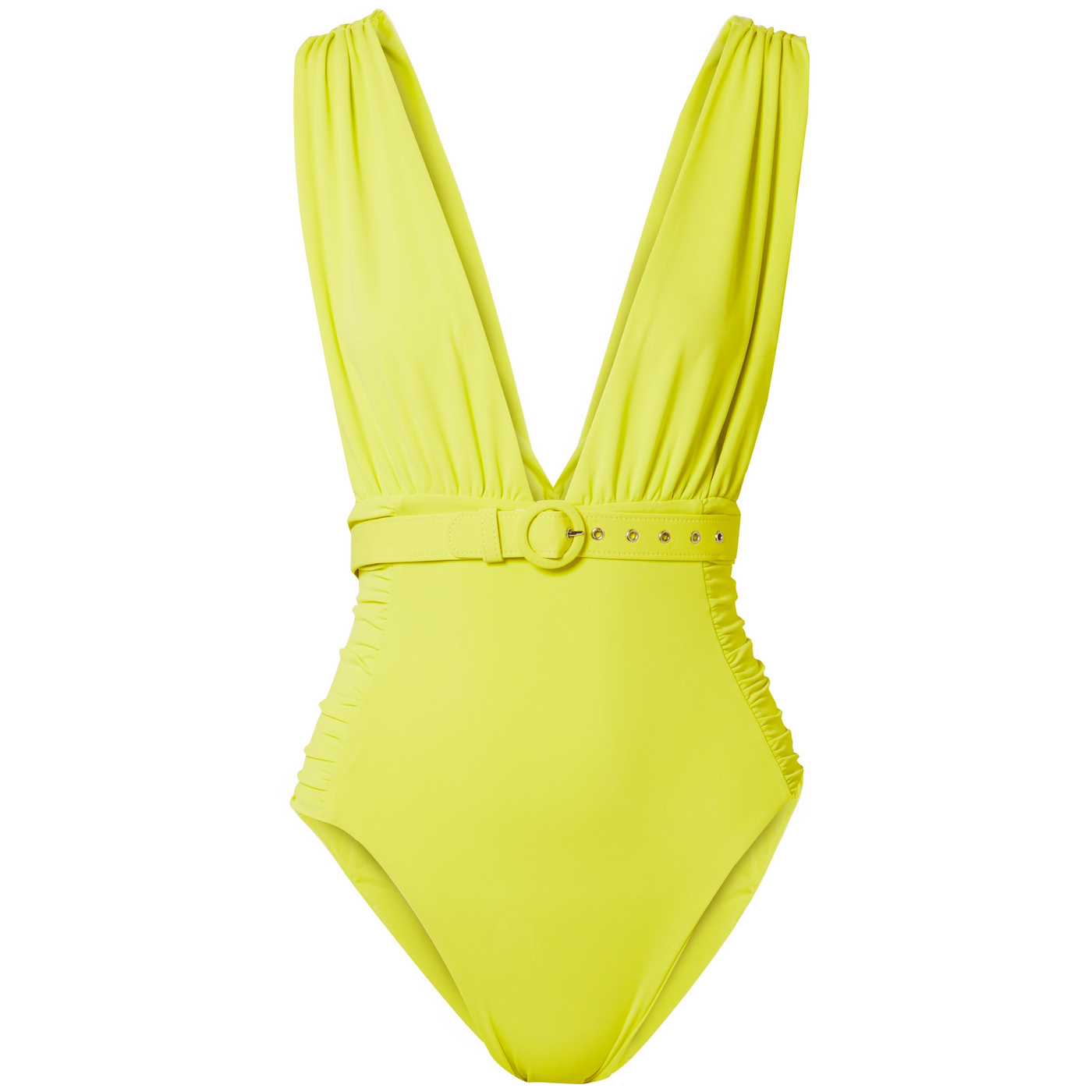 Nicholas Belted Ruched Swimsuit