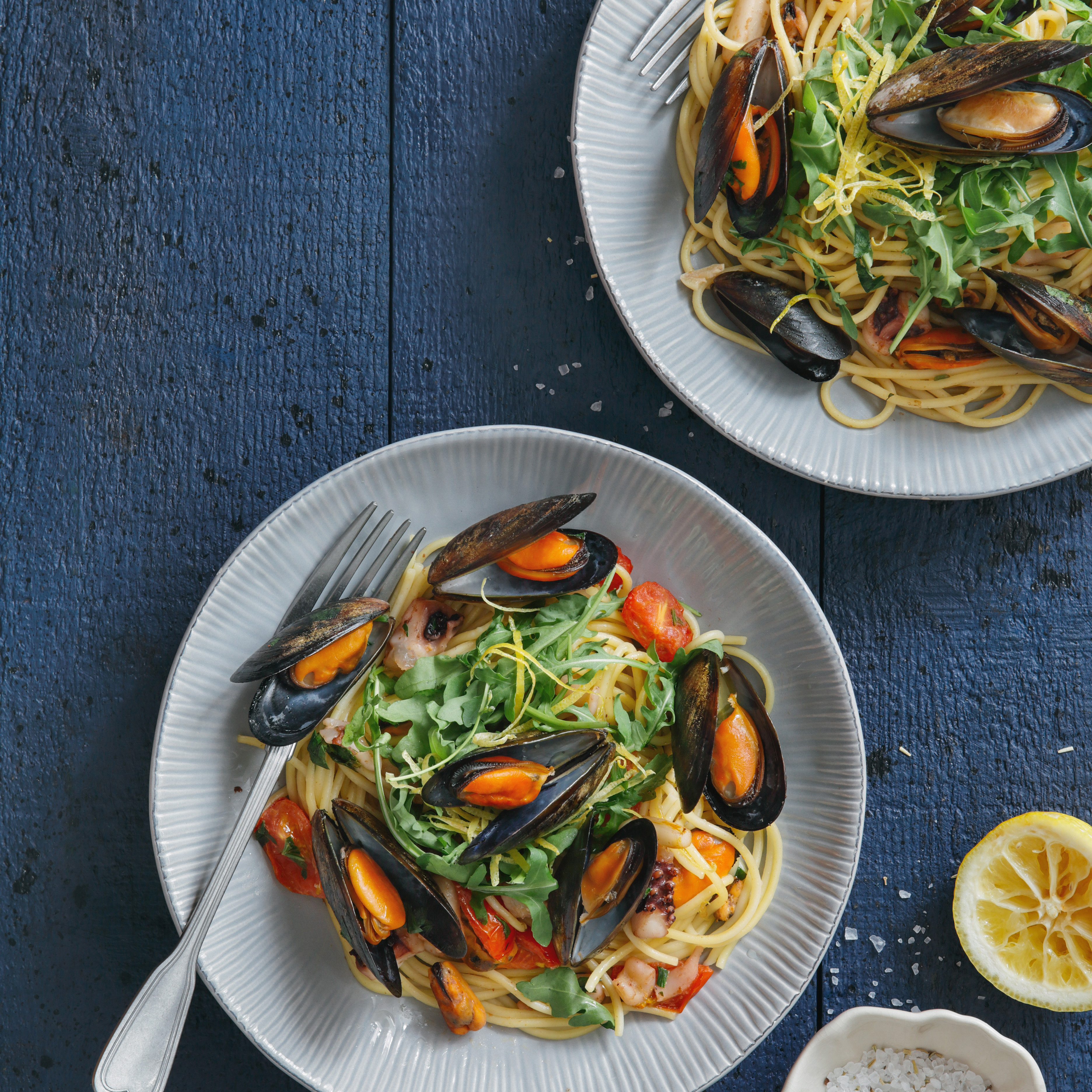 mussels and clams pasta
