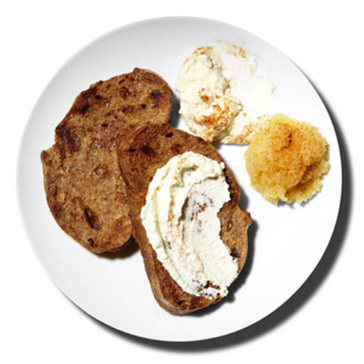 Healthy breakfast for weight loss directions:                                       	Whisk together 1 egg, 1 teaspoon honey, and 1/2 teaspoon cinnamon. (Discover the many health benefits of cinnamon.)                                      	Coat 2 slices whole wheat raisin bread with egg mixture.                                       	In a skillet misted with nonstick cooking spray, cook bread for 1 minute a side.                                       	Serve with 2 tablespoons applesauce and 2 tablespoons ricotta and a dash cinnamon.