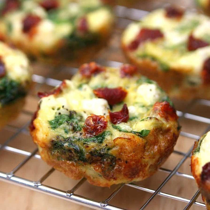 italian spinach egg muffins