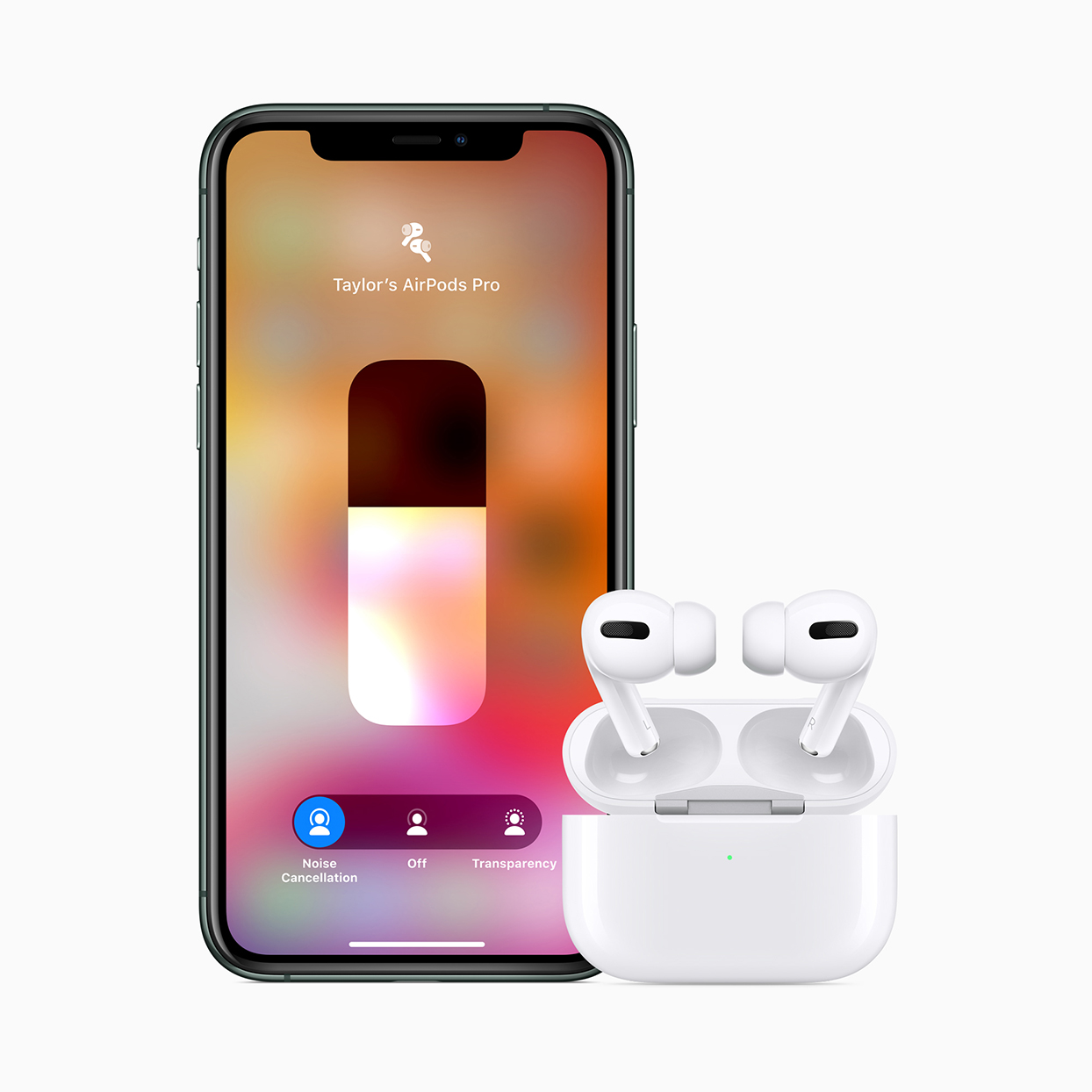 airpods pro headphones and iphone