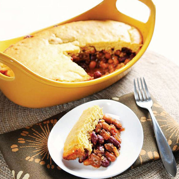 Hearty Pinto and Kidney Bean Tamale Pie