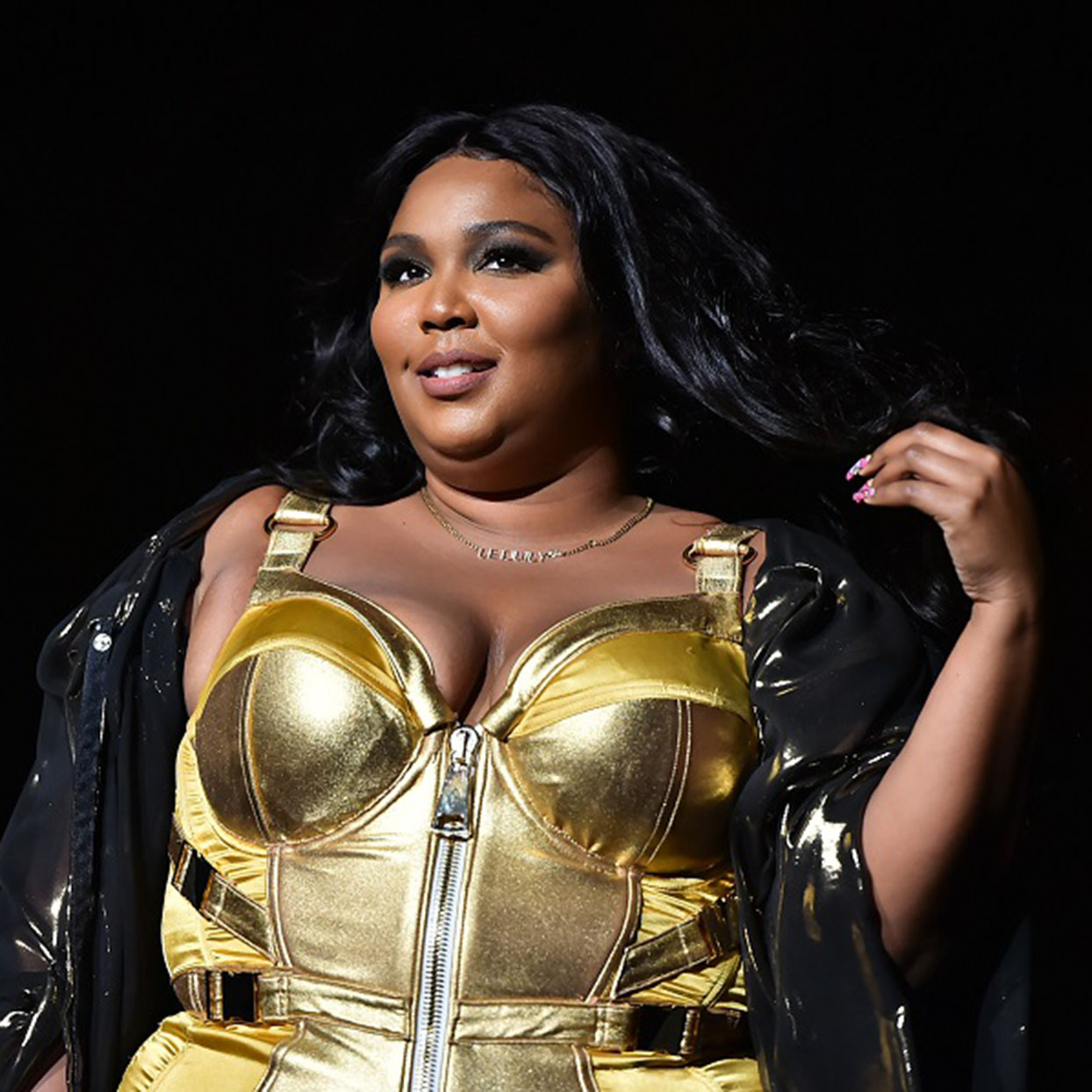 Lizzo performs during a concert.