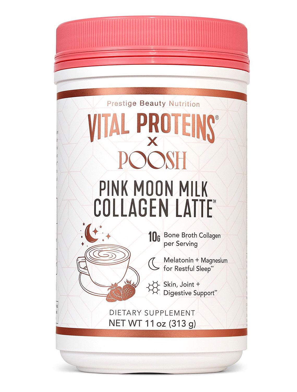 Vital Proteins x Poosh Pink Moon Milk Collagen Latte
