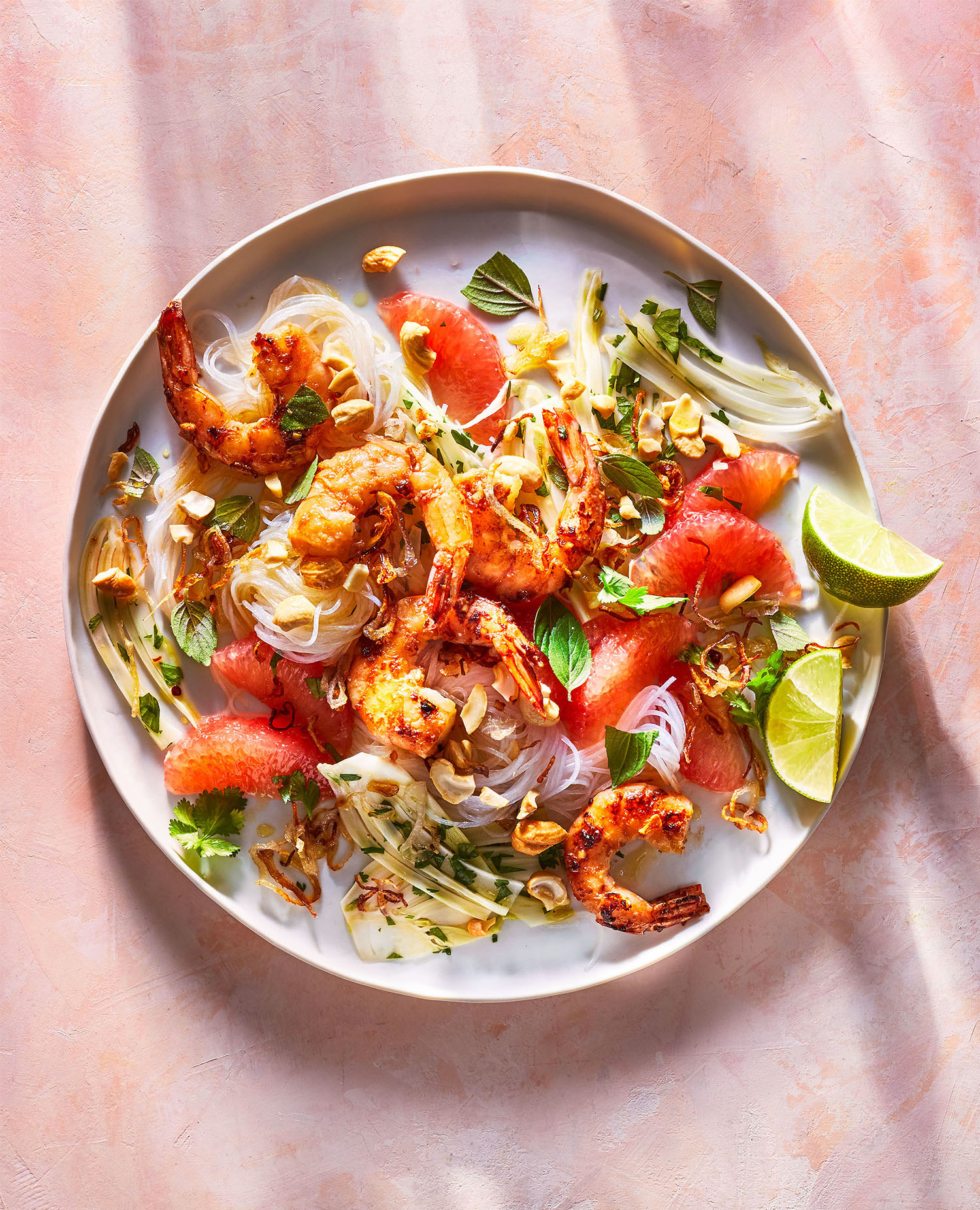 Sweet and Sour Shrimp Salad With Grapefruit and Fennel