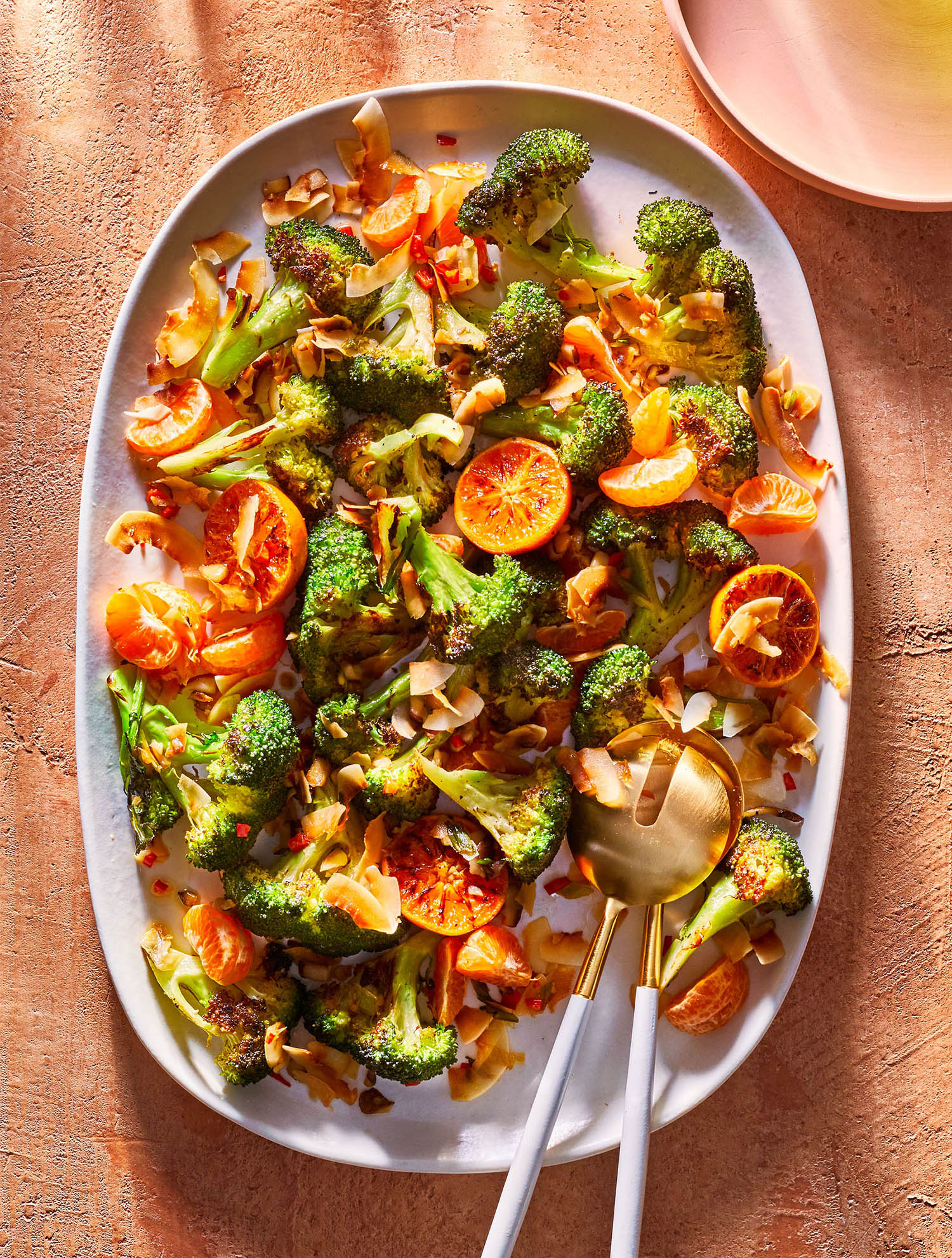 Roasted Broccoli With Clementines and Coconut-Chile Crunch