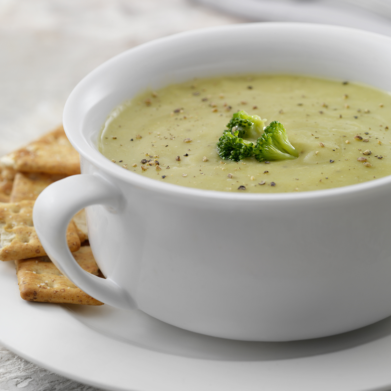 It has broccoli in it, how calorically-dense can it be? Depending on how its prepared, one cup of cream of broccoli soup could set you back almost 500 calories. To lighten it up, make your own soup at home, or try any of these filling, diet-friendly soup recipes instead.