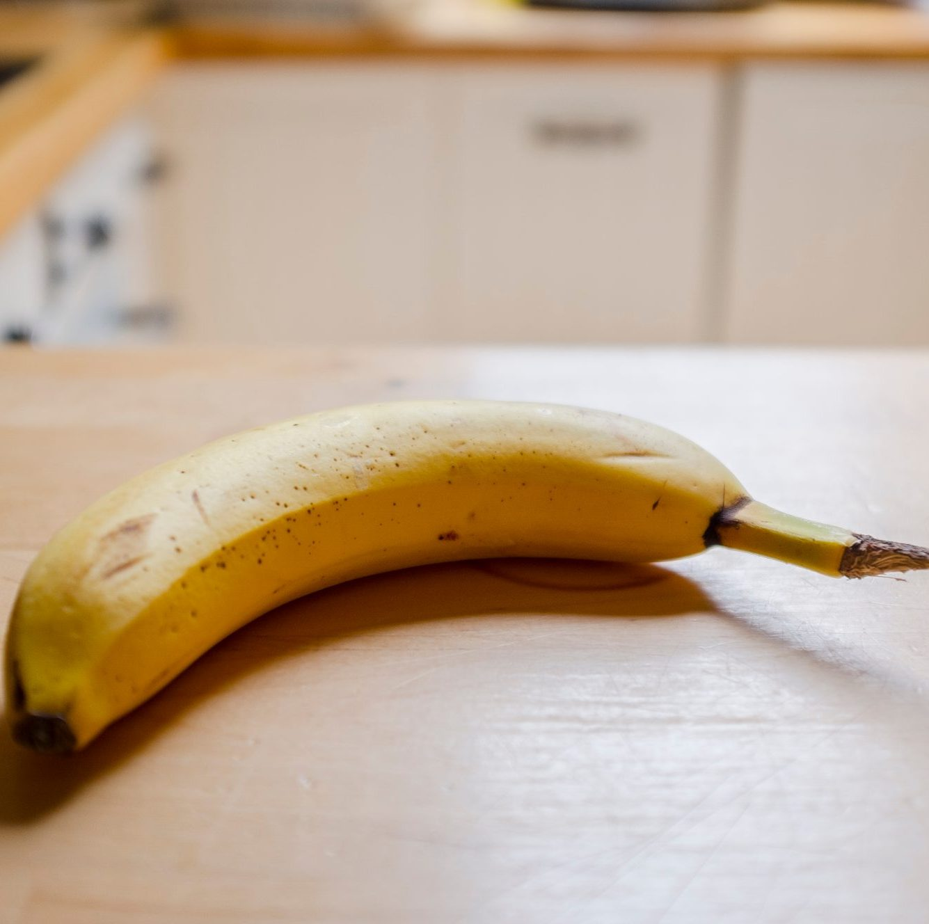 Close-Up Of Banana On Table as a food for runners