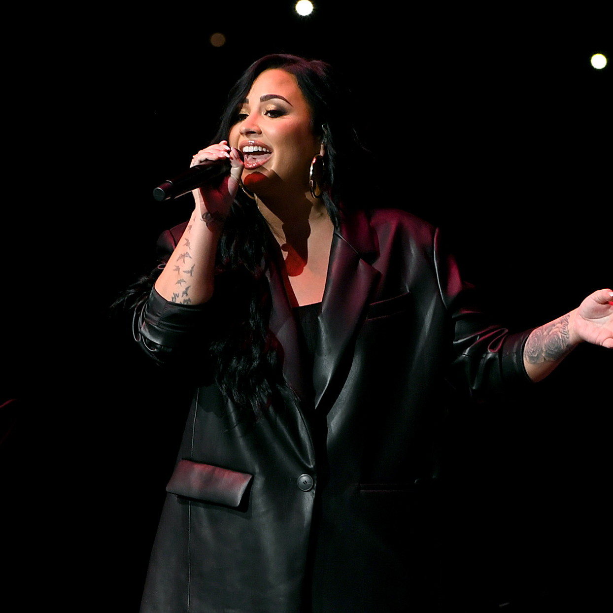 Demi Lovato performs onstage during the Bud Light Super Bowl Music Fest on February 01, 2020 in Miami, Florida.