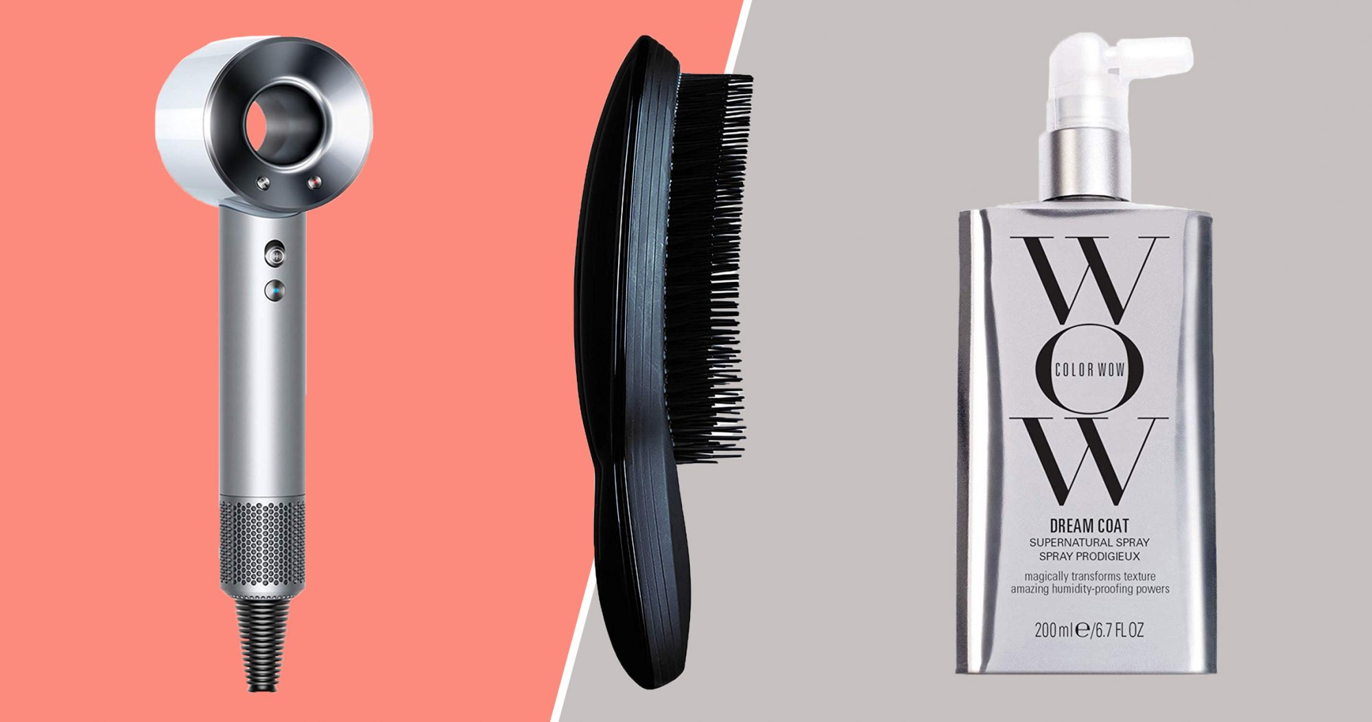 Color Wow Dream Coat, Tangle Teezer Ultimate Hairbrush, Dyson Supersonic Hair Dryer