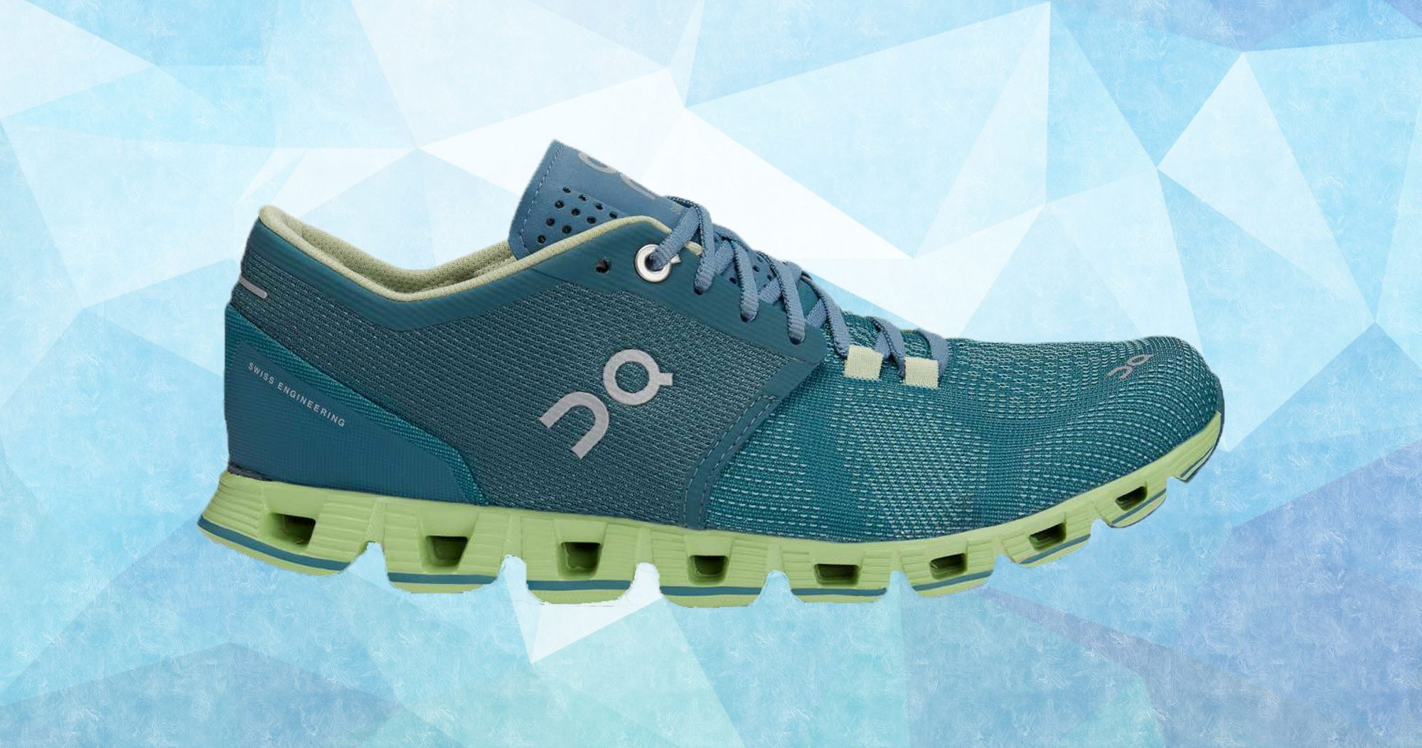 On_Cloud_X_Running_Sneakers_In_Blue_And_Green