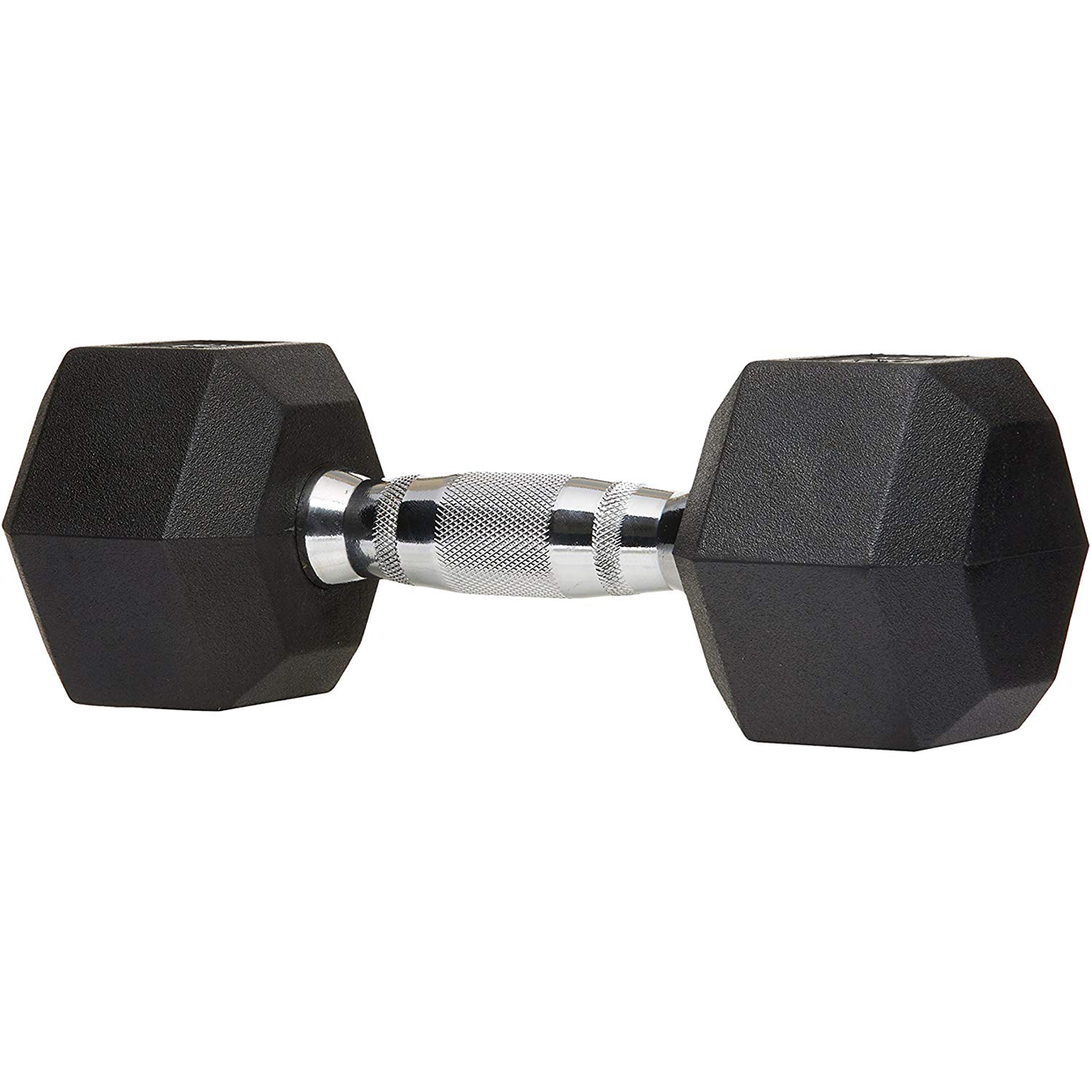 AmazonBasics Rubber Encased Hex Hand Dumbbell Weight