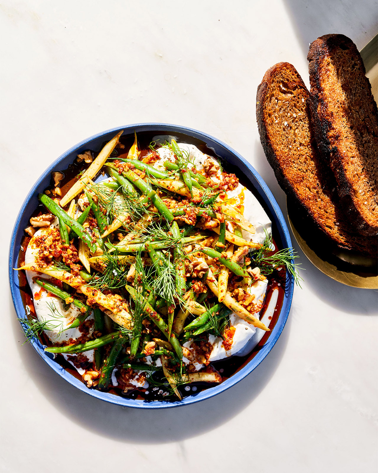 Green Bean Slaw with Dill & Burrata