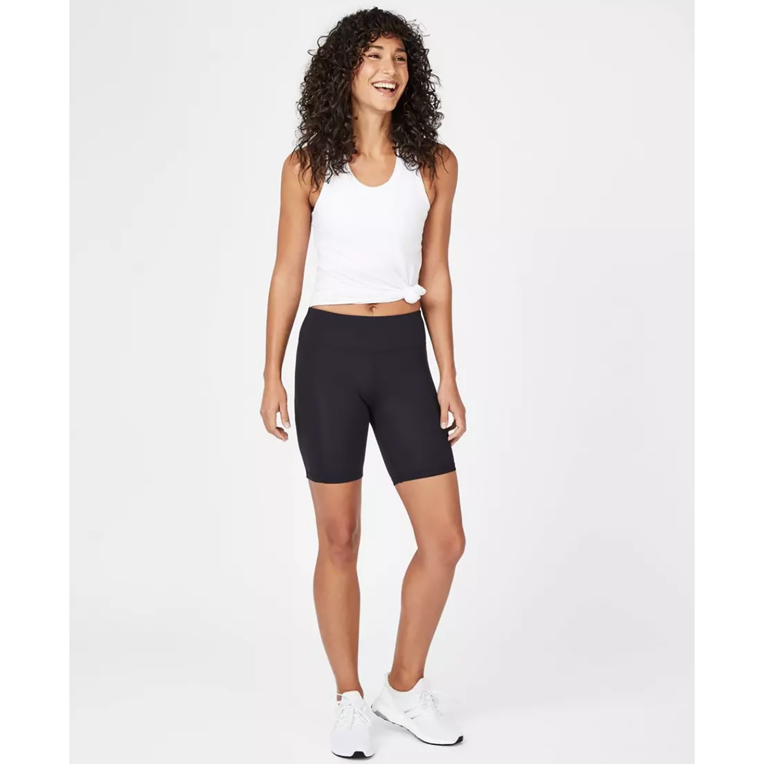 Whether you're in a heated room or striking a pose in a regular yoga class, these shorts dry super fast and feel lightweight enough to become your second skin. The soft material and option for a short cut or longer fit will keep your mind off messing with your outfit and instead focused on finding your calm. (Related: How to Style Bike Shorts Like a Fashion Blogger)