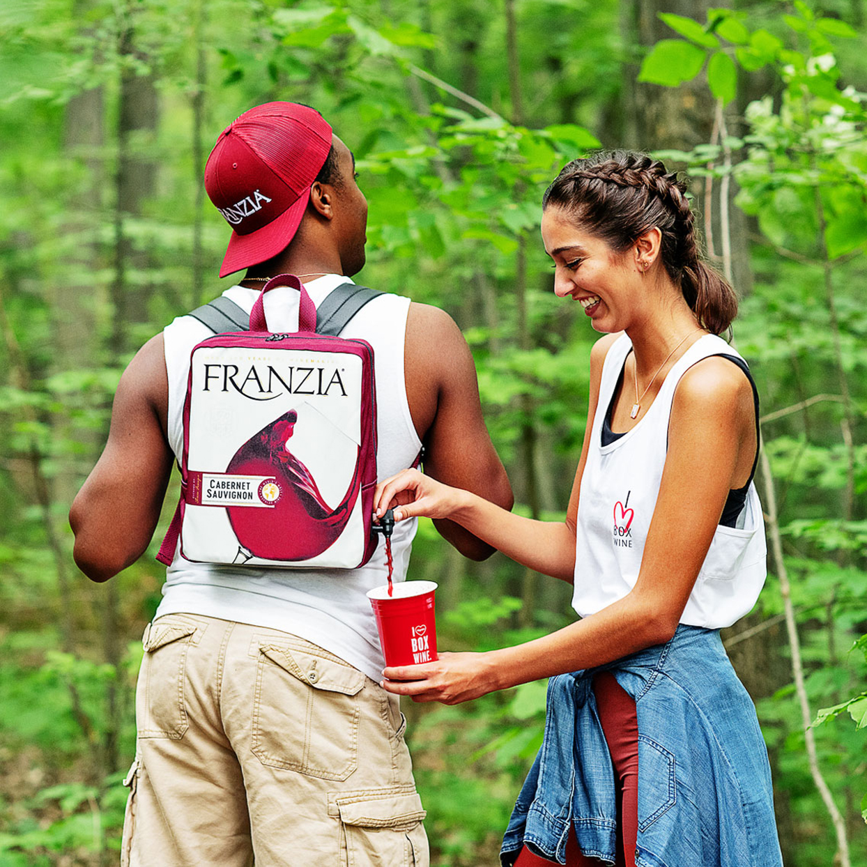 FRANZIA WINES wine dispensing backpack