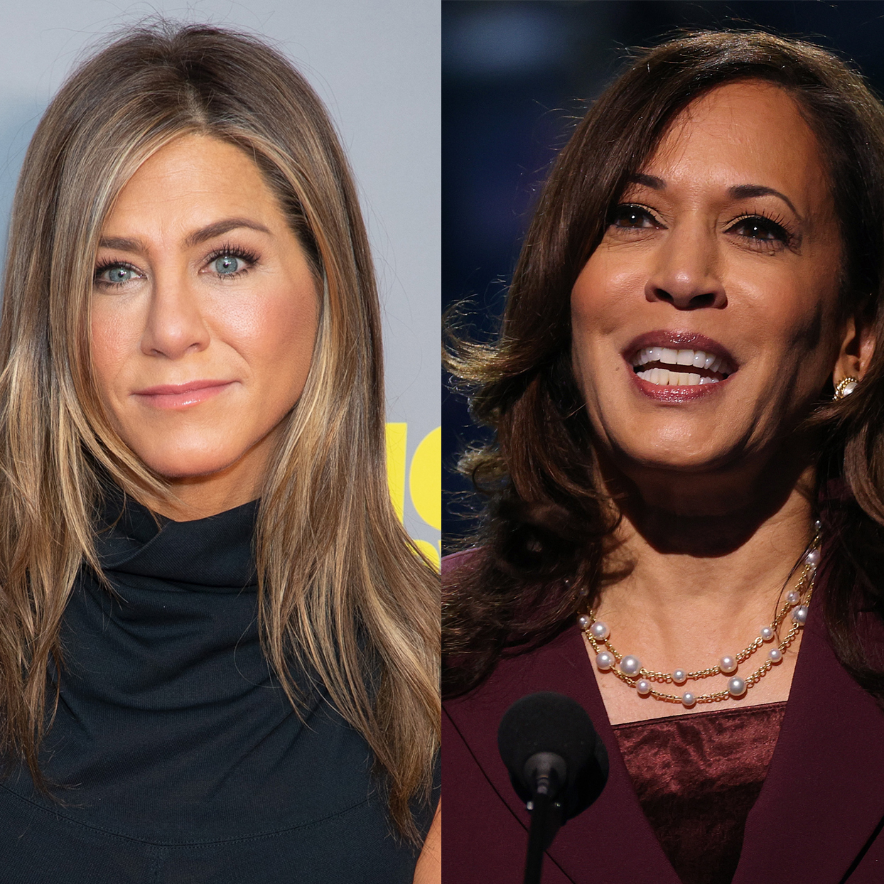 Jennifer Aniston and Kamala Harris