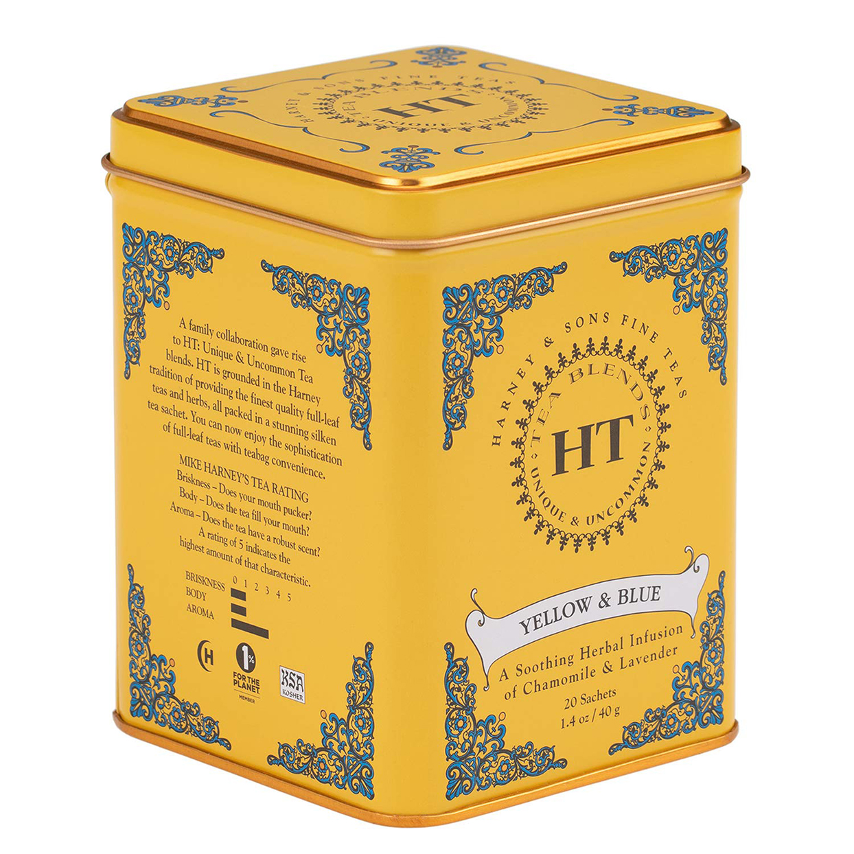 Harney and Sons Yellow and Blue Tea Sachets