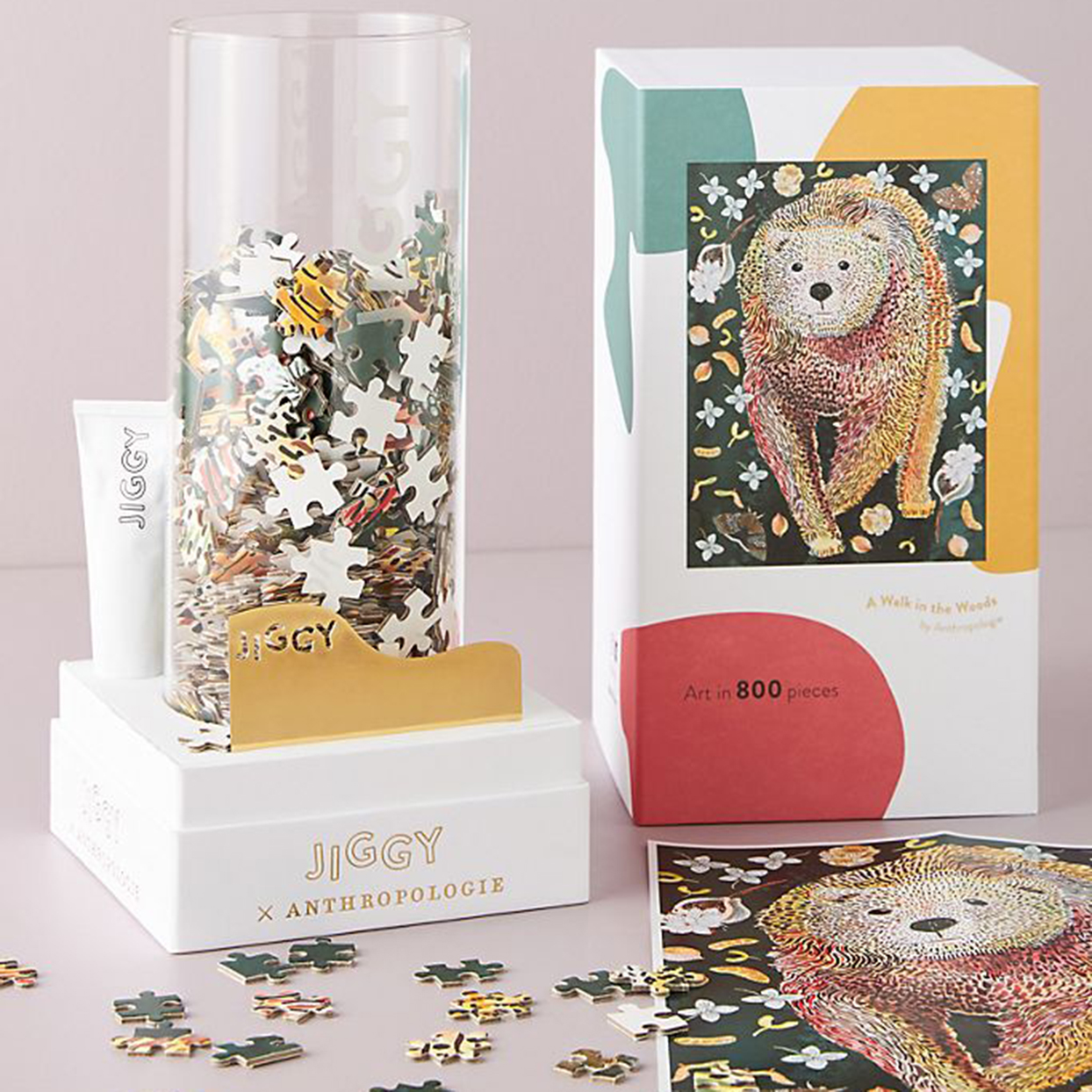 Jiggy for Anthropologie Puzzle and Glue Set