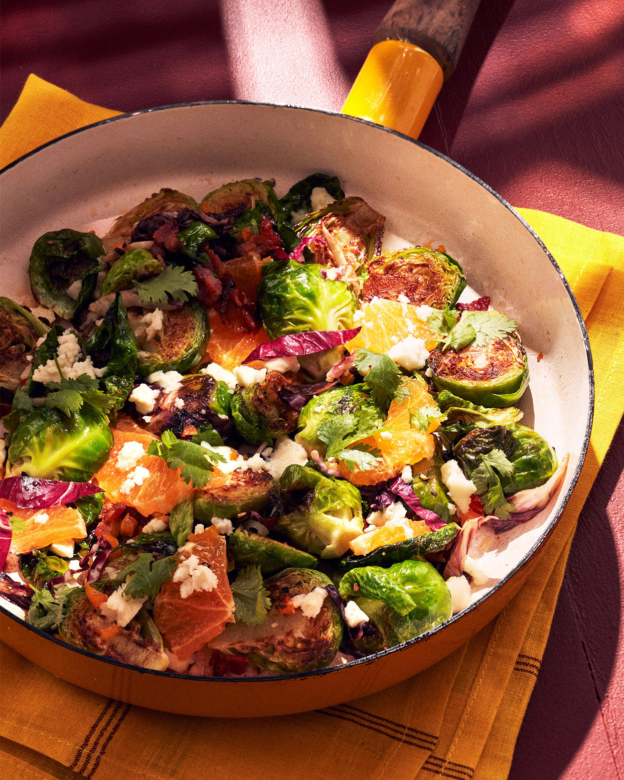 Brussels Sprouts With Bacon, Oranges & Mezcal