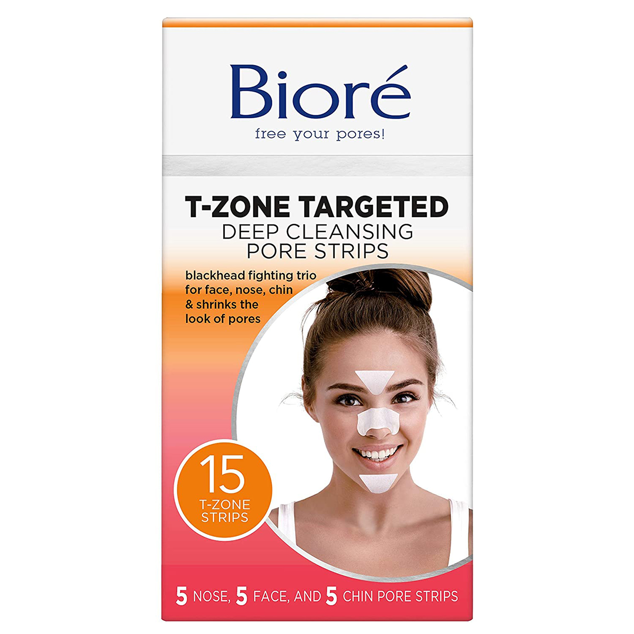 Bioré T-Zone Targeted Deep Cleansing Pore Strips,