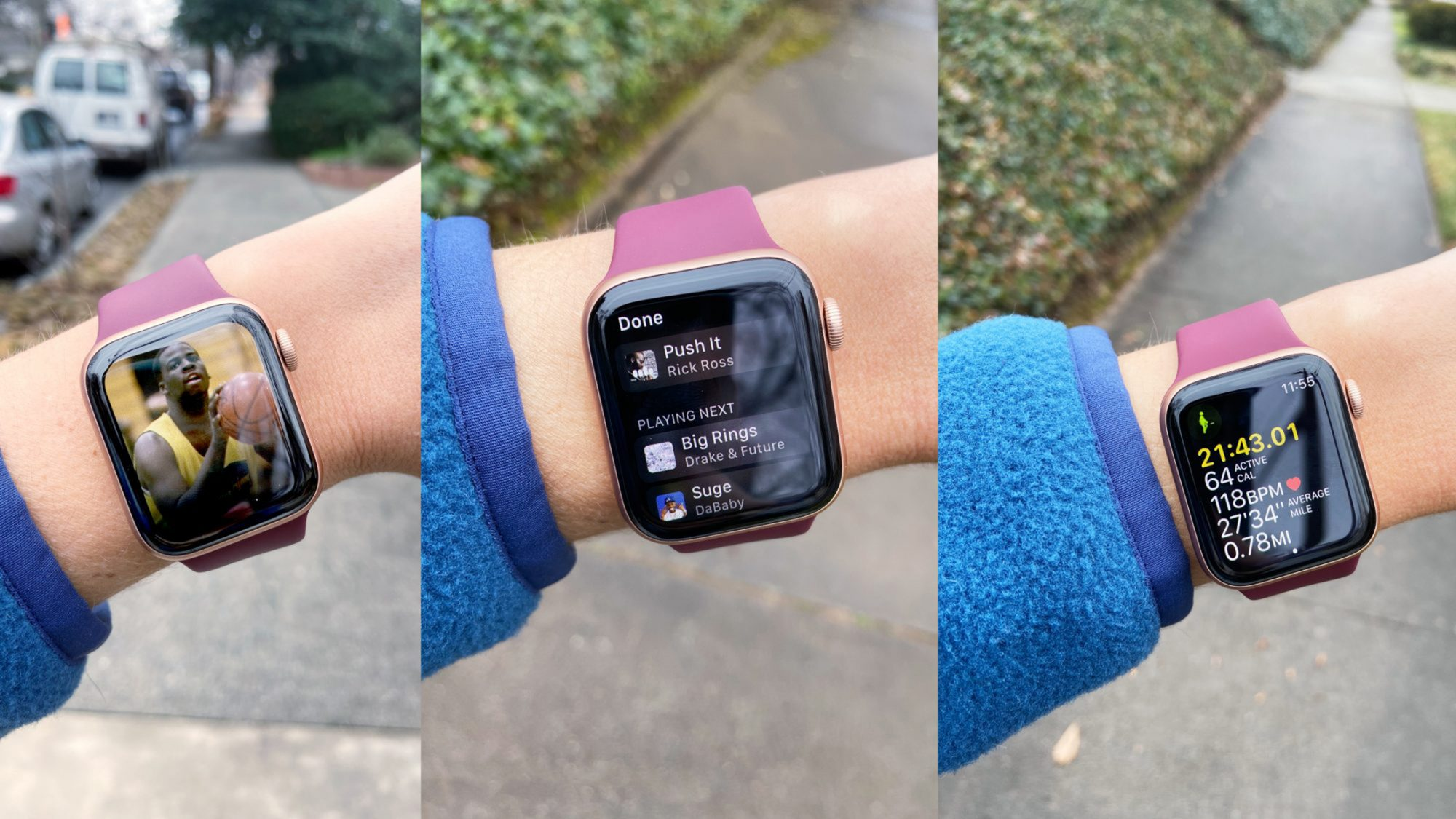 Susan Brickell using Apple Watch Time to Walk