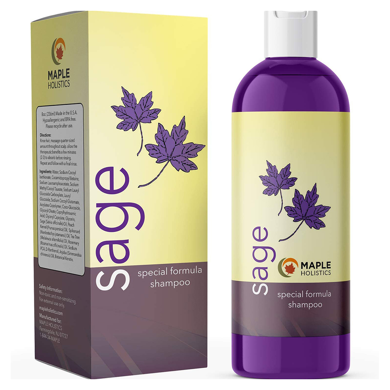 Maple Holistics Sage Shampoo