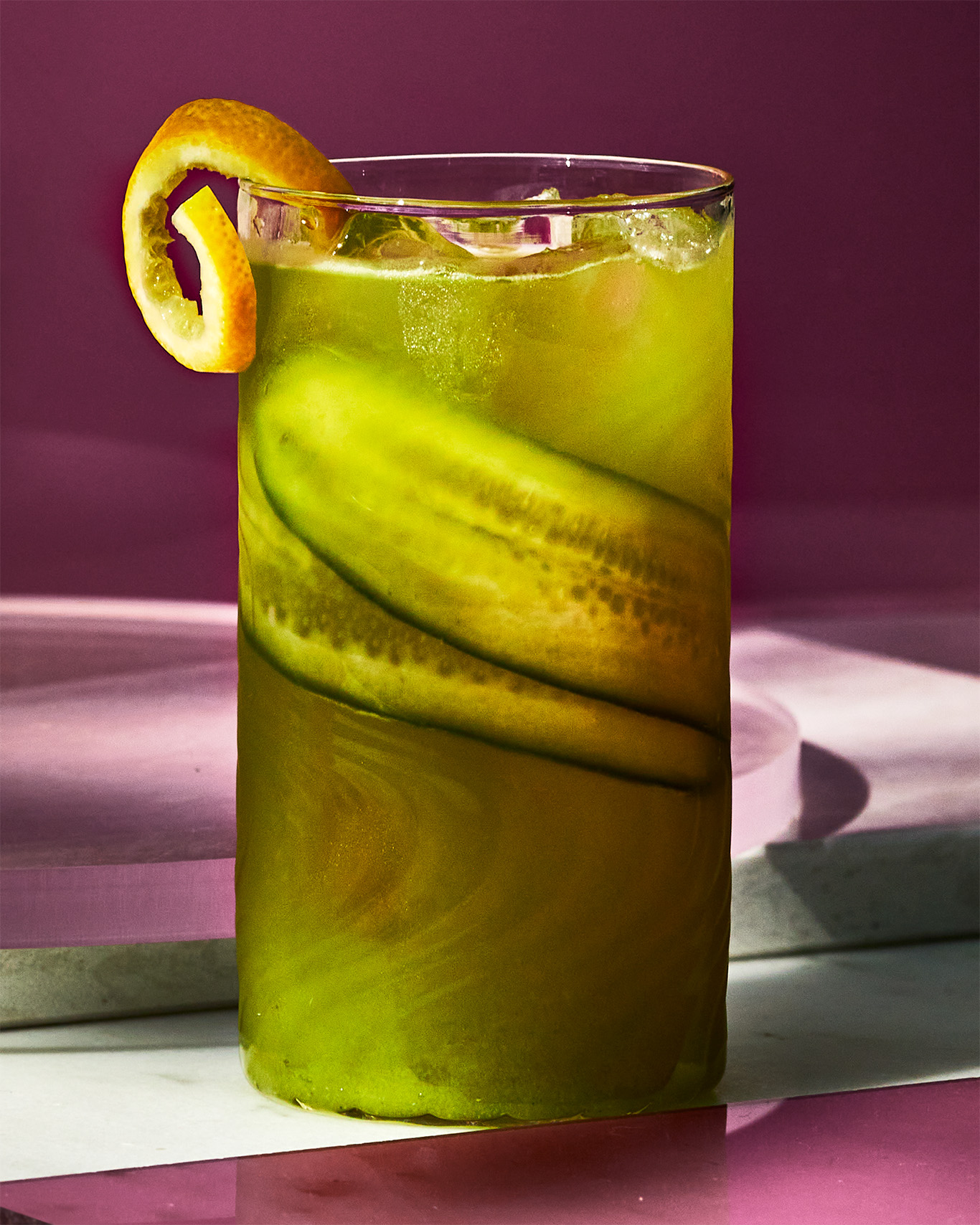 Cucumber-Mezcal Highball