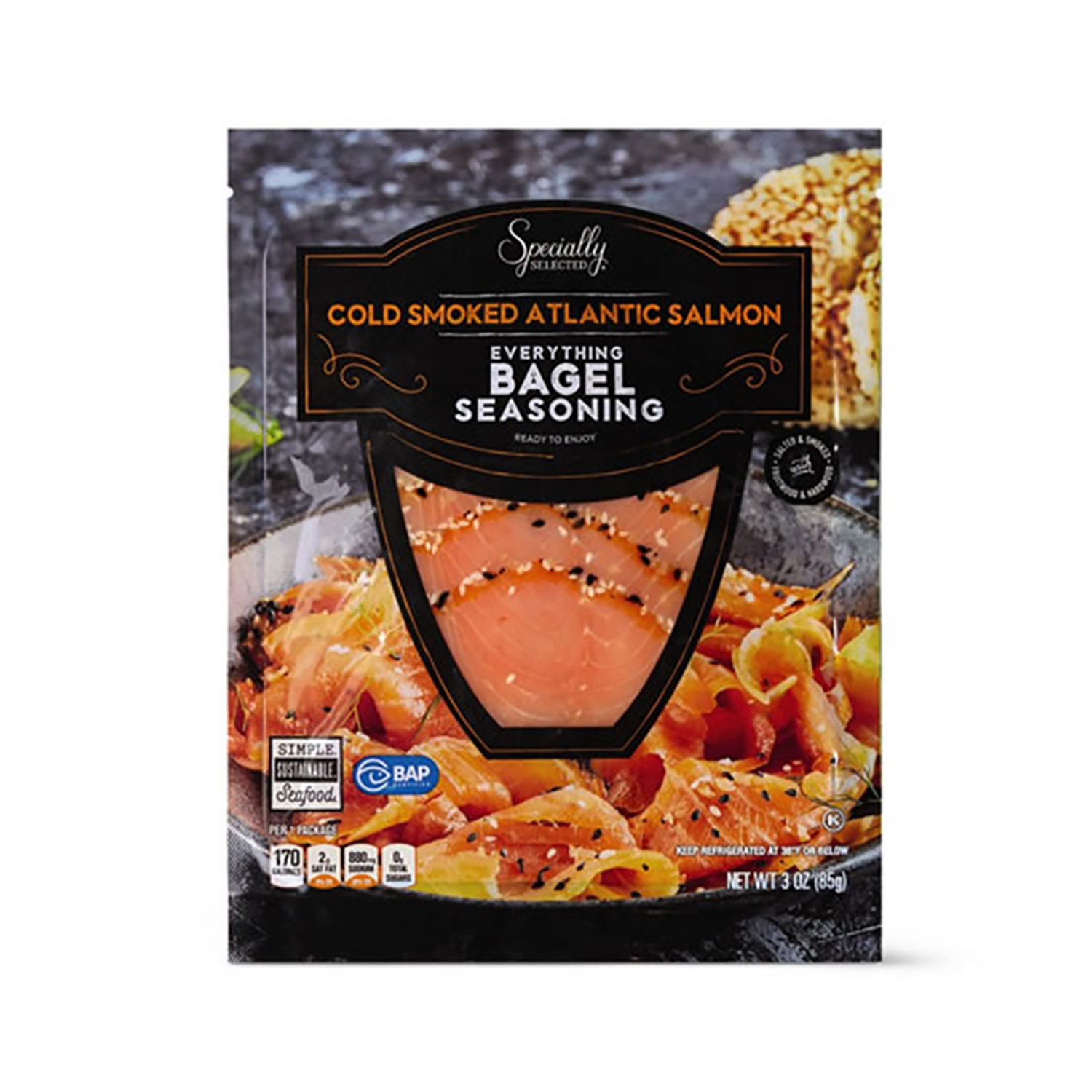 Specially Selected Everything Bagel Cold Smoked Salmon