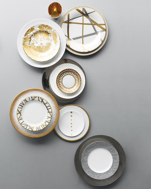 Mix in Metallic China Patterns