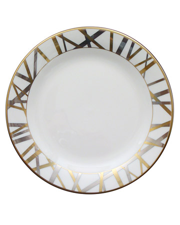 Gold and Silver Modern Salad Plate