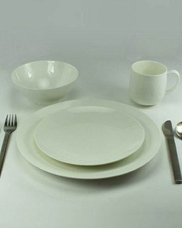 Modern White Place Setting