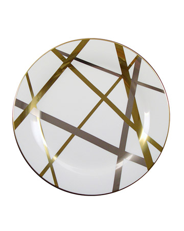 Gold and Silver Modern Dinner Plate