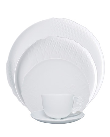3-D White Dishes
