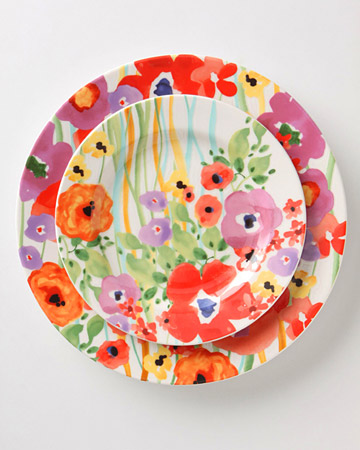 Colorful Salad and Dinner Plates