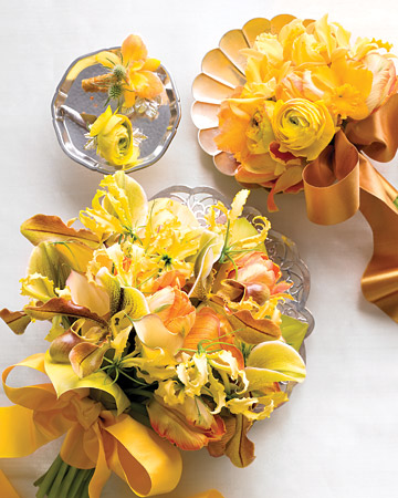 Yellow and Orange Bouquets and Boutonnieres