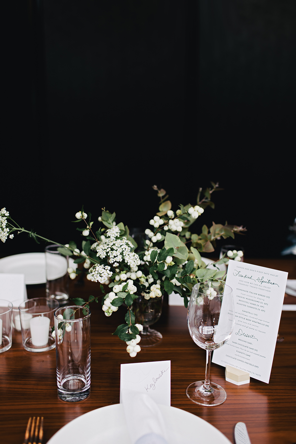 ana and damon reception table decor