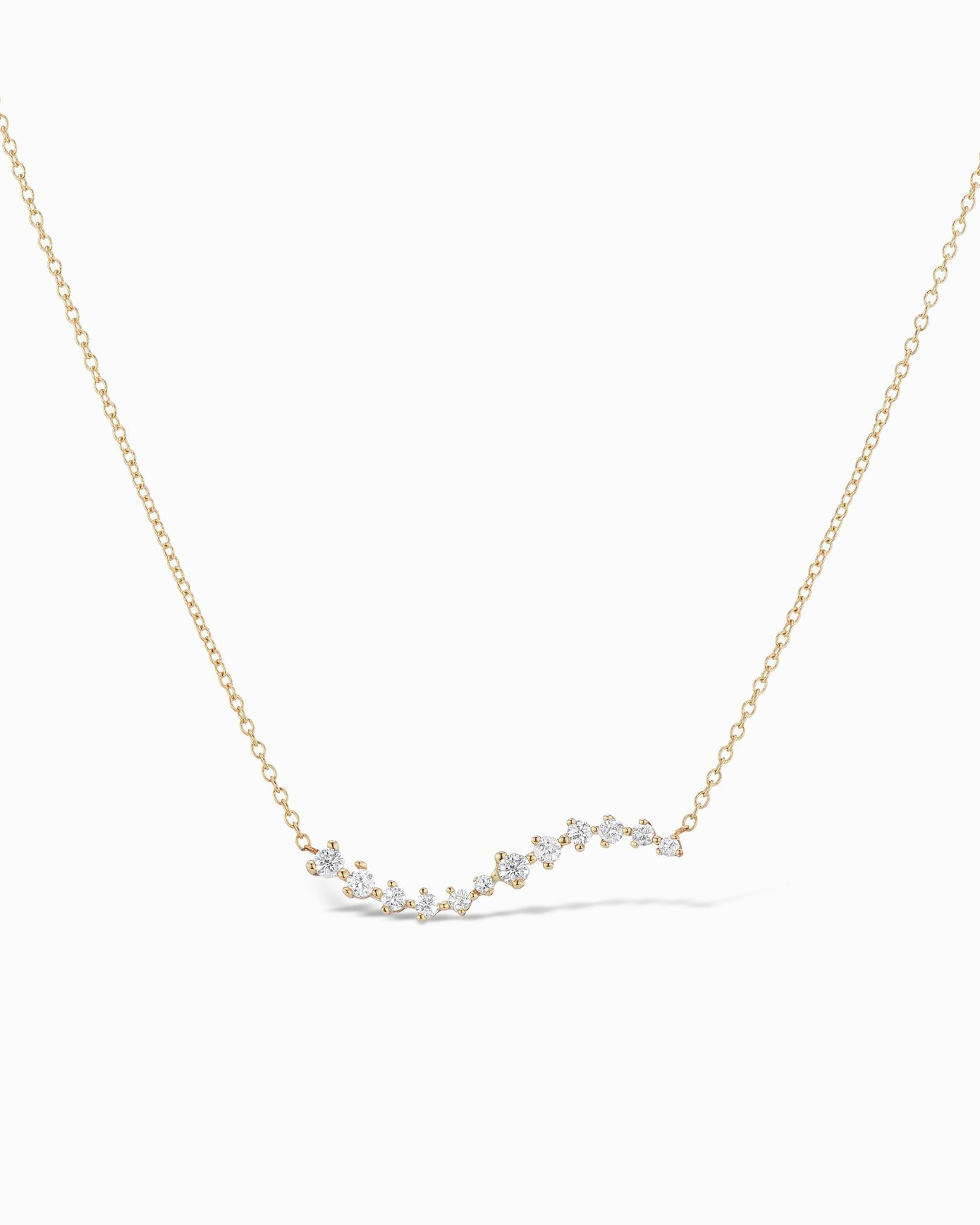 Diamond Swell Necklace