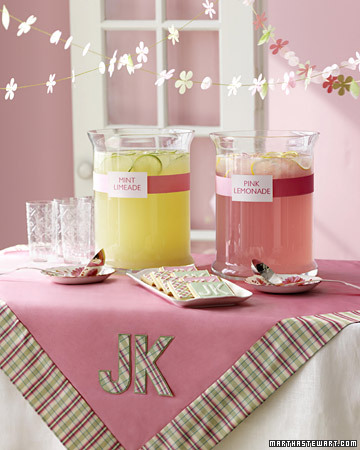 Pink-and-Green Table with Sweets and Treats