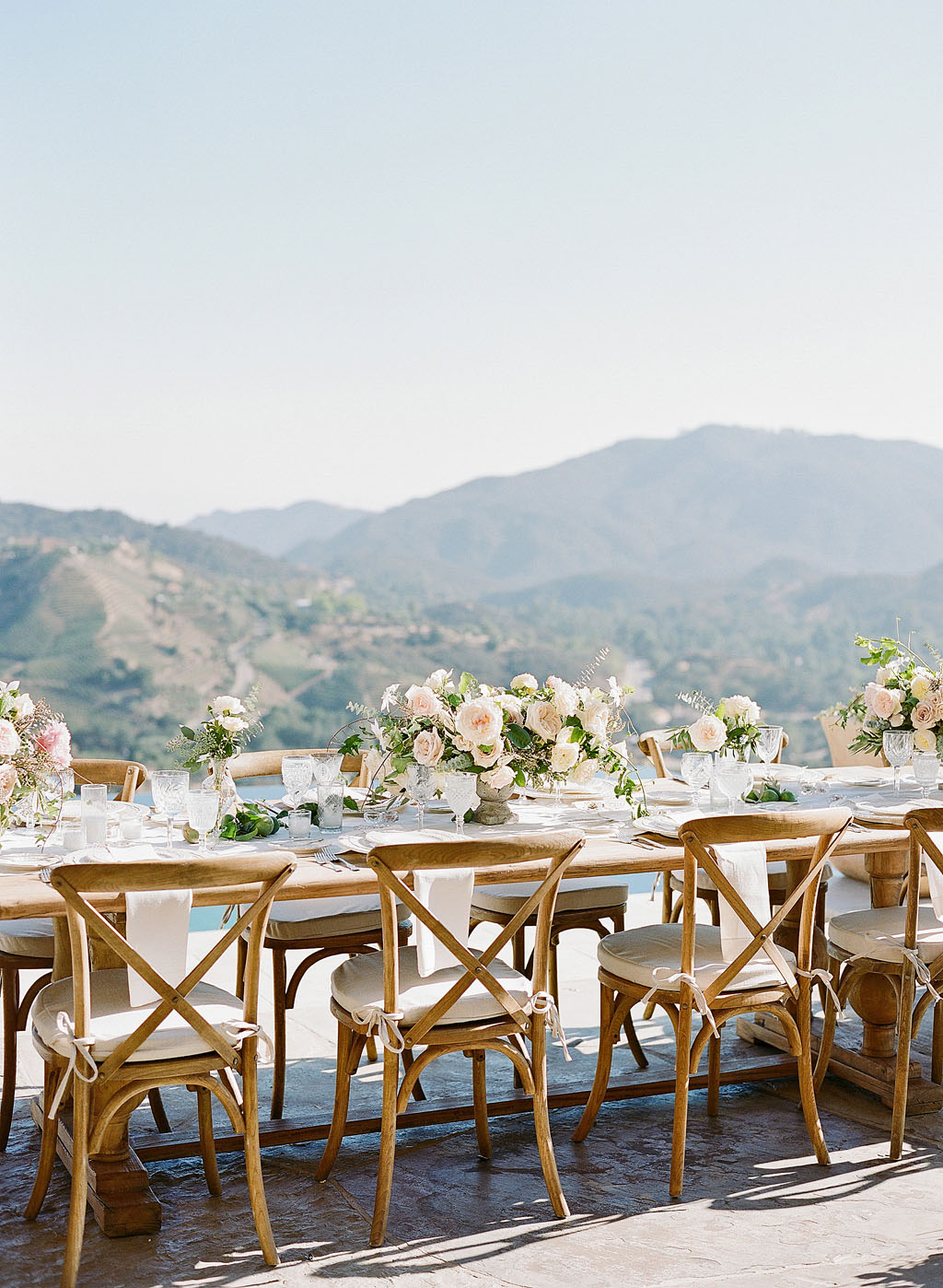 aislinn eric wedding malibu reception tables view