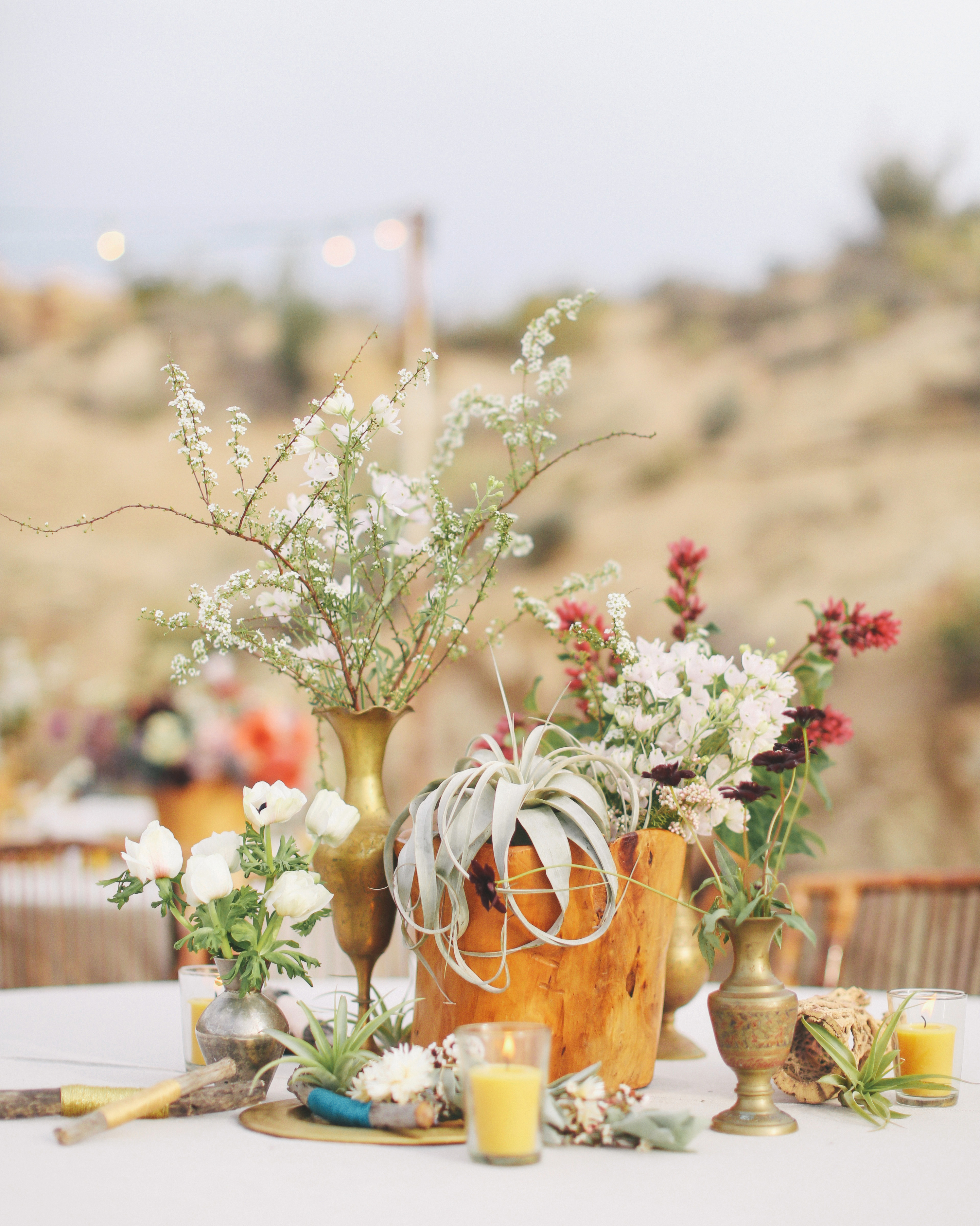 Sunset-Inspired Centerpieces