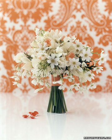 Bouquet with Orange Accents