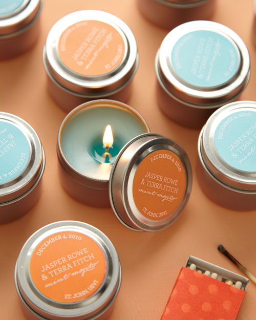 Scented Candles as Favors
