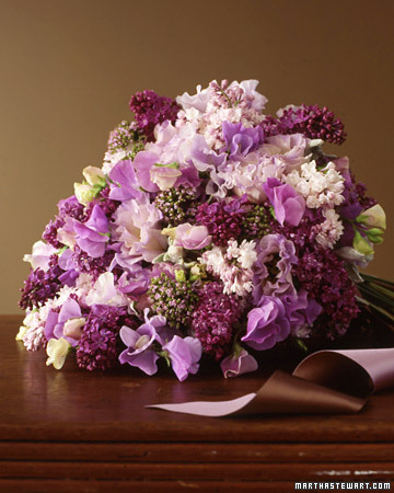 Lush Lilac Wedding Bouquet