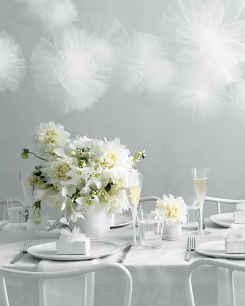 White Wedding-Reception Decorations