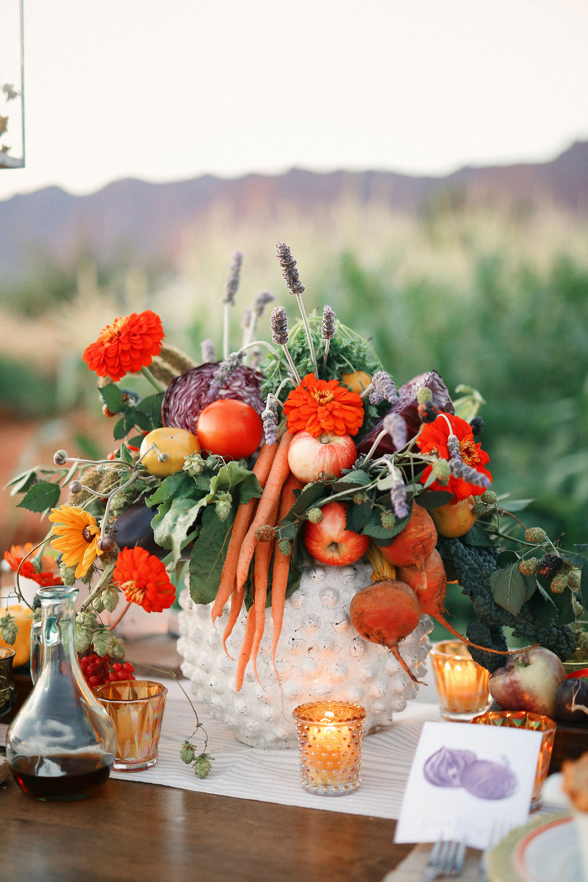 Produce-Filled Centerpiece
