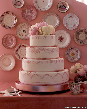 Lusterware Wedding Cake