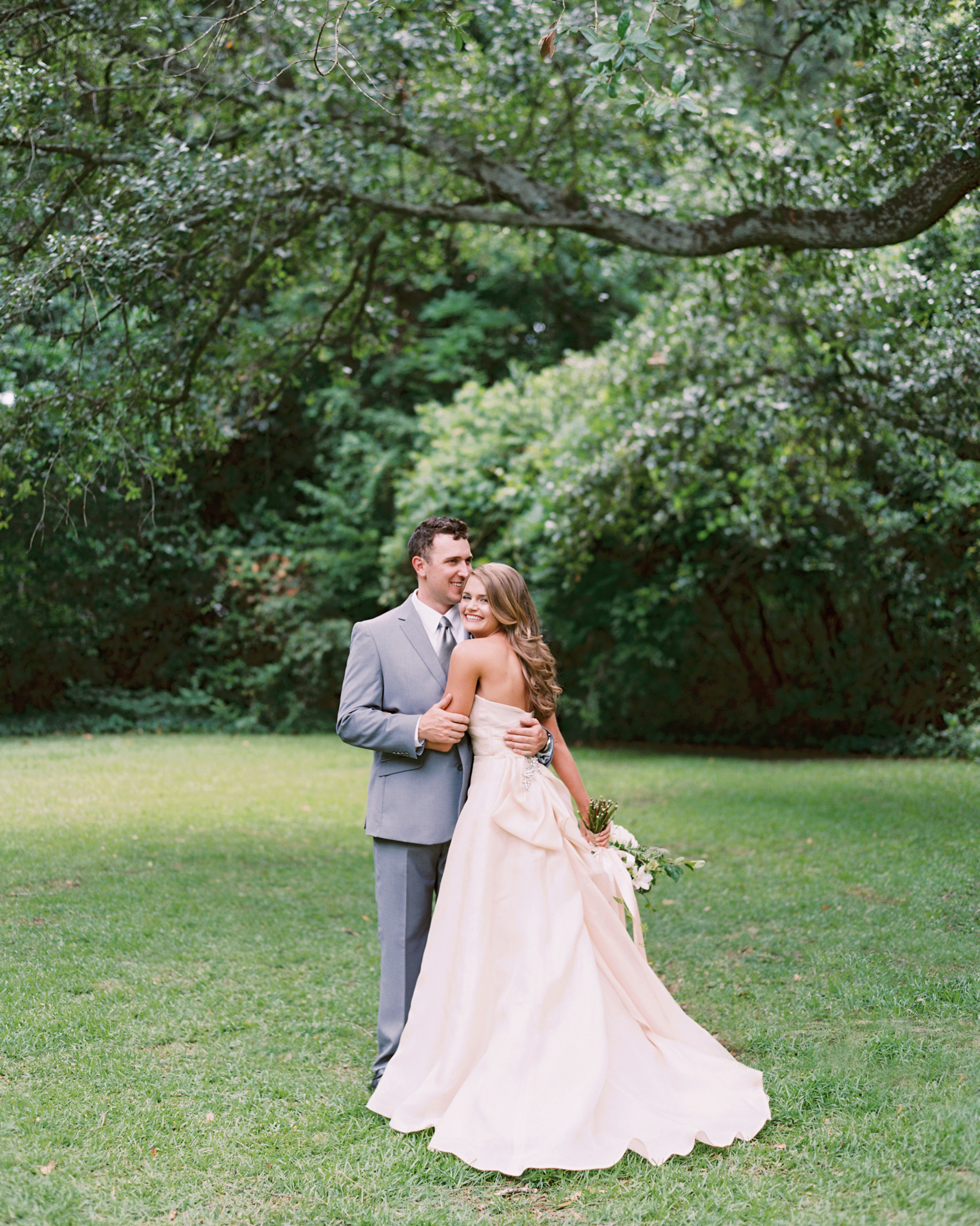 Millennial Pink Wedding Dress