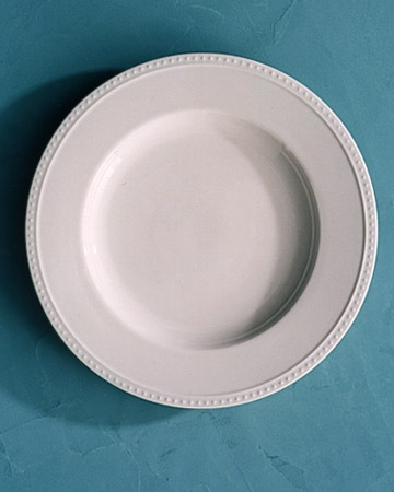 White Plate with Tiny Dots