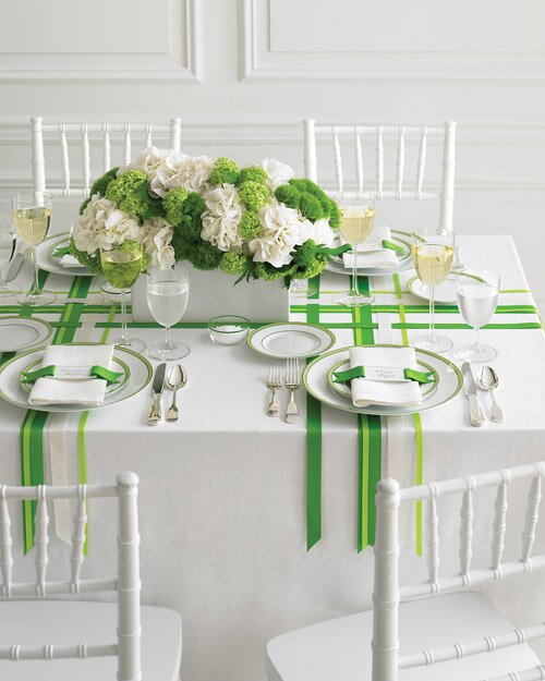 Wedding Colors Green And White Martha Stewart Weddings