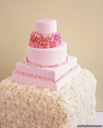 Pink Carnation Wedding Cake